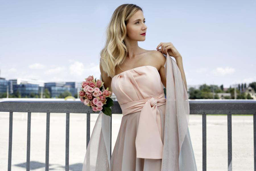 Ballrobe Abendkleid rose MD Modedesign