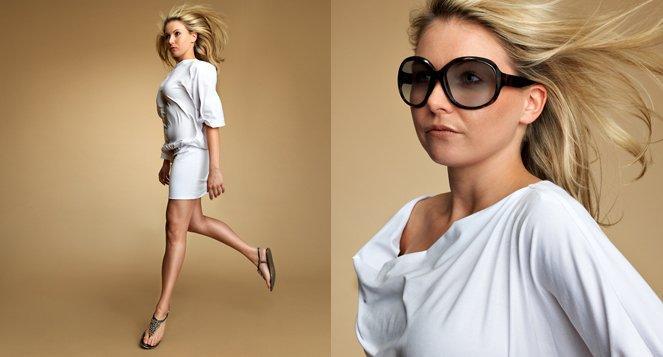 Kleid Jersey weiss MDModedesign