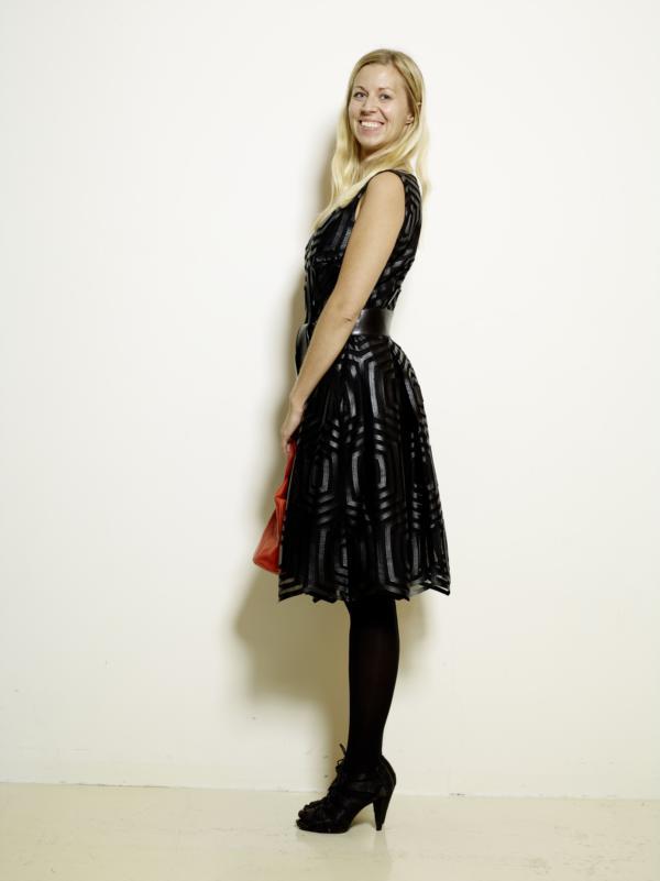 Kleid Lederimitat Tuell schwarz MDModedesign