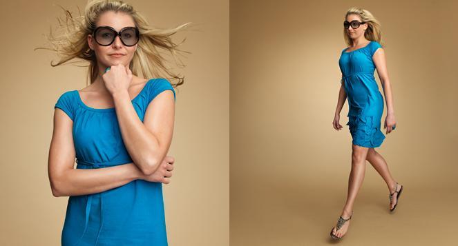 Kleid blitzblau Jersey MDModedesign