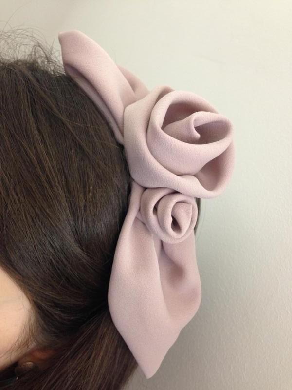 Kopfschmuck Rose Stoff Haarreifen MDModedesign