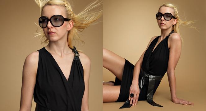 Wickelkleid schwarz Schnalle MDModedesign
