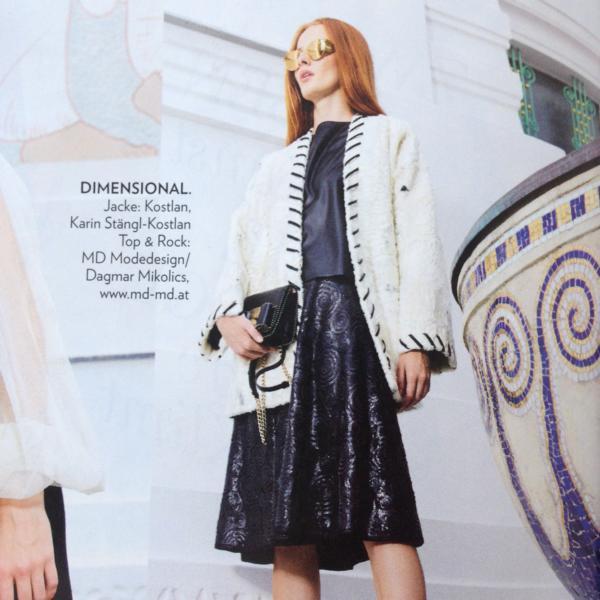 Leder schwarz Rock Oberteil MD Modedesign