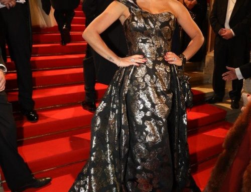 Lidia Baich in MD Modedesign am Opernball